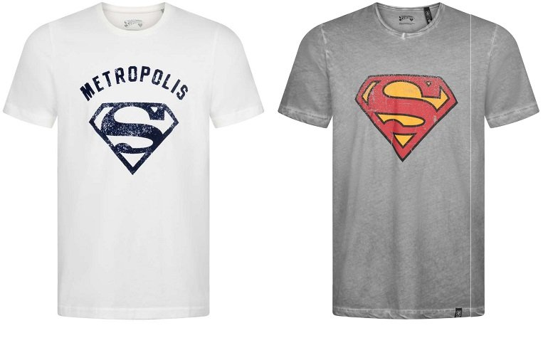 Gozoo Superman & Batman Logo T-Shirts