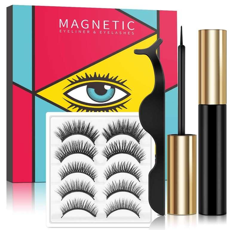 Lorchar magnetische Wimpern Set (5 Paar, Eyeliner, Zange) für 9,99€ inkl. Prime Versand (statt 15€)