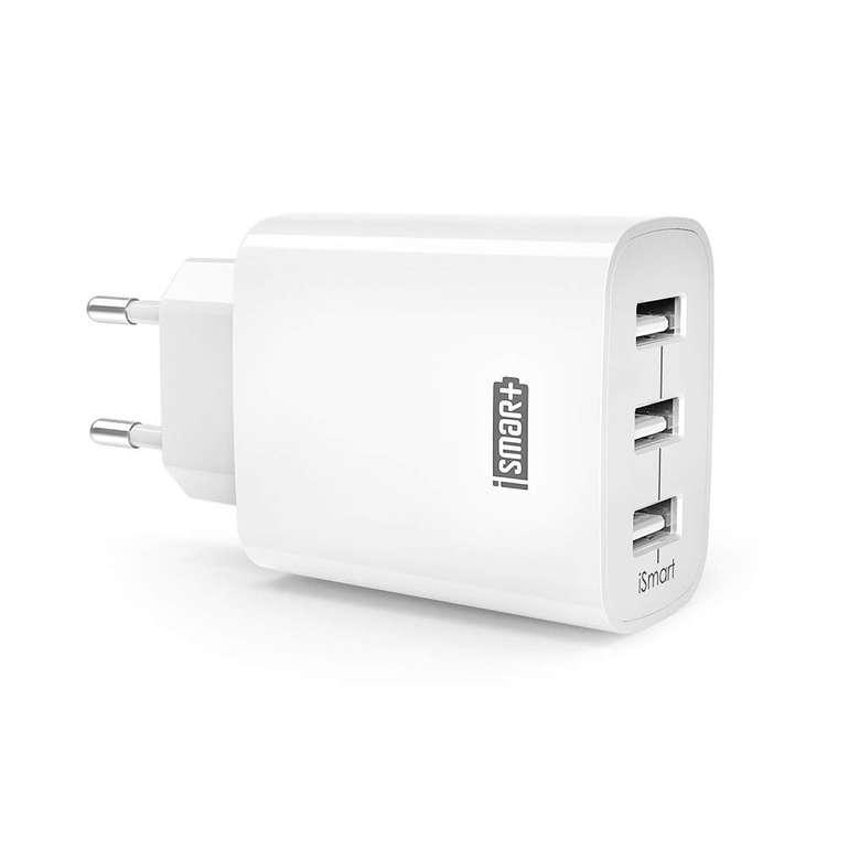 RAVPower 30W 3-Port USB Ladegerät mit iSmart Technologie für 9,29€ inkl. Prime VSK