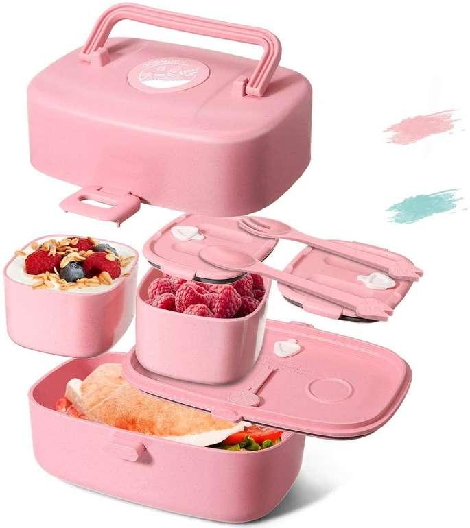 Godmorn Kinder Lunch bzw. Bento Box mit Besteck (860 ml, BPA-frei) für 12,34€ inkl. Prime Versand