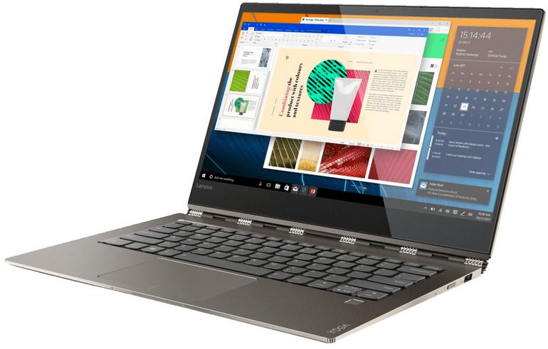"Lenovo Yoga 920 Convertible (13.9"" 4K IPS, i7-8550U, 2×Thunderbolt) für 1299€"