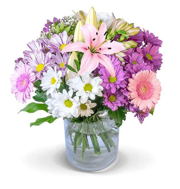 BlumeIdeal: 20% Rabatt auf fast alle Blumensträuße, z.B. Strauß 'für die Beste' + Vase 24,98€