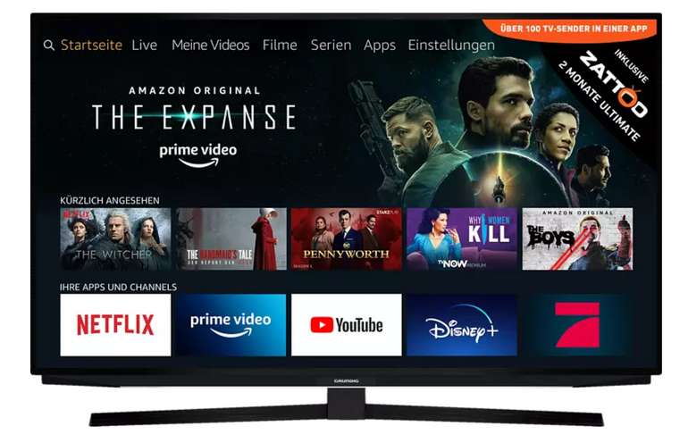 Grundig 55 GUB 7040 LED TV mit 55 Zoll (UHD 4K, SMART TV, Fire TV) für 399€inkl. Versand (statt 439€)