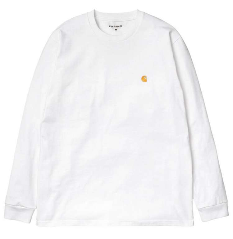 """Carhartt WIP Herren Langarm-Shirt """"Chase""""  in Weiß für 21,70€inkl. Versand (statt 30€)"""
