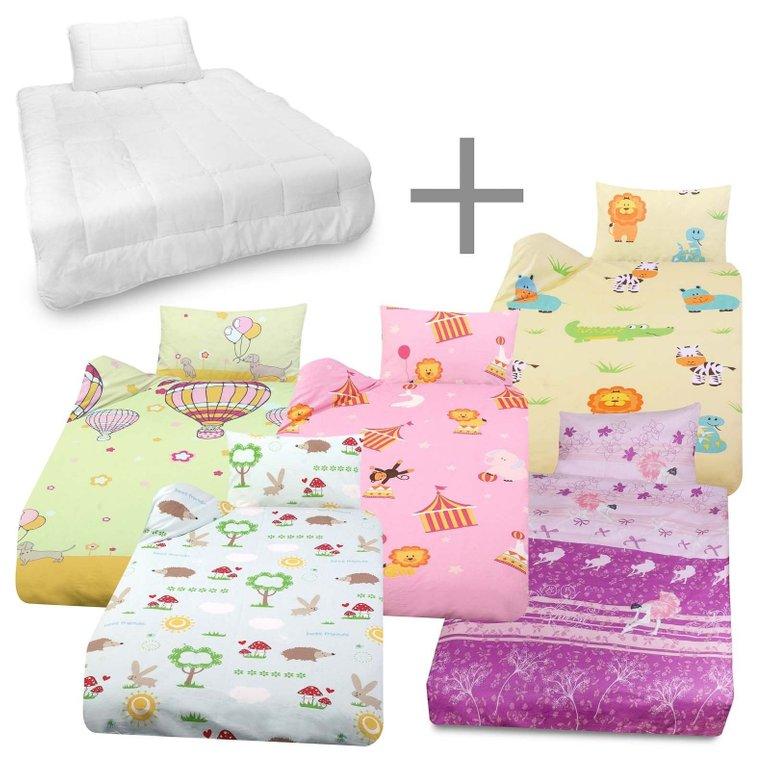 Julido Kinder Bettwäsche (Bettdecke 135x100cm + Kissen 40x60cm) für 16,95€