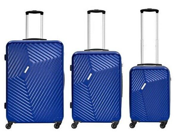 3er e-trado Trolley Koffer Set (Hartschalen) aus ABS Kunststoff für 79,90€