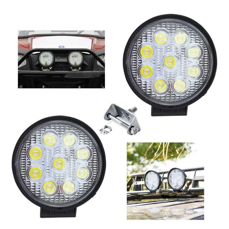 Hengda 2 x 27 Watt LED Scheinwerfer für Fahrzeuge für 10,49€ inkl. Versand (statt 15€)