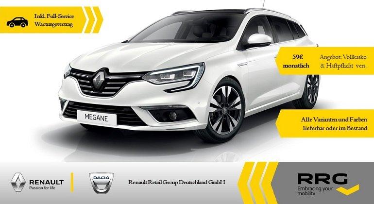Gewerbe: Renault Megane Grandtour TCe 140 für 80,95€ mtl. Netto im Gewerbeleasing - LF: 0,33