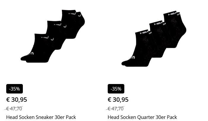 Head Socken 30er Pack