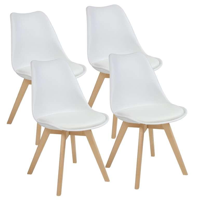 4er Set AARHUS Esszimmerstühle mit Beinen aus Massiv-Holz für 71,95€ (statt 85€)