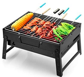 Uten Barbecue - Tragbarer BBQ Kohle Smoker Grill für 13,29€ inkl. Prime Versand