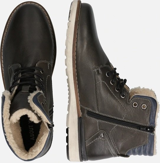 About You Herren Boots 'Lennard' in Schwarz für nur 37,45€ (statt 60€)