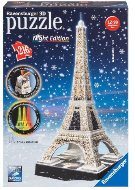 Ravensburger Eiffelturm bei Nacht 3D Puzzle für 17,94€ inkl. Versand (statt 24€)