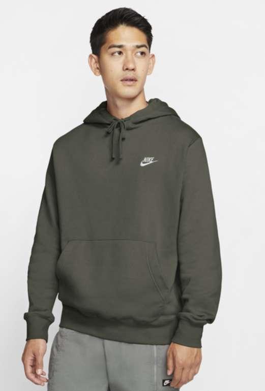 Nike Club Fleece Over The Head Herren Hoodie in Grau für 29,99€inkl. Versand (statt 40€) - XS und S!