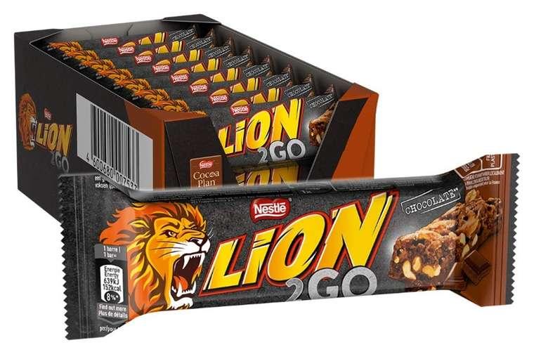 24er Pack Nestlé LION 2GO Schokoriegel für 8,09€ inkl. VSK (statt 12,99€) - Prime!