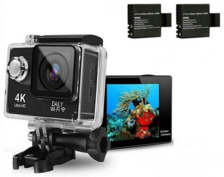 Wasserdichte HTKJ Mini 4K Action Sports Cam mit WiFi für 44,79€ inkl. Versand