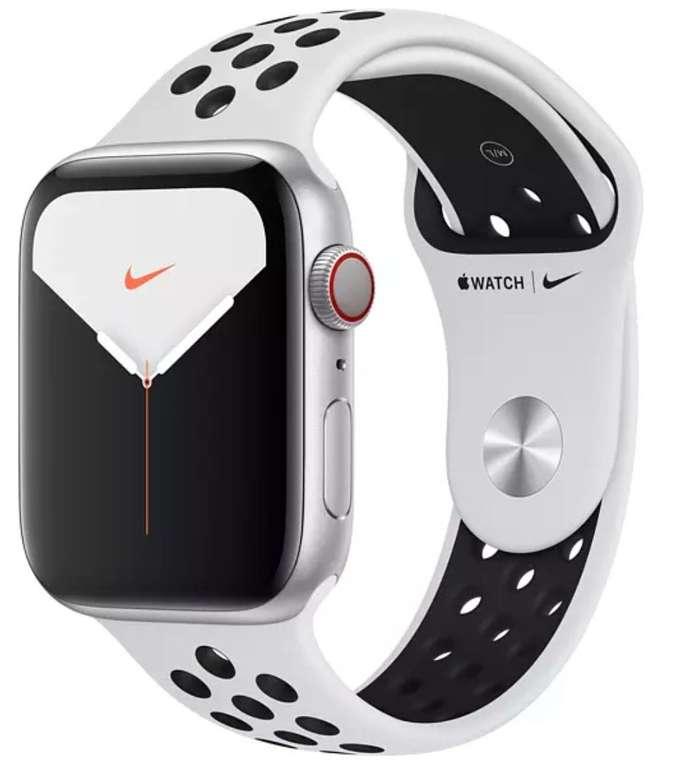 Apple Watch Nike Series 5 GPS Cellular LTE 44mm silber für 349€ inkl. Versand (statt 390€)