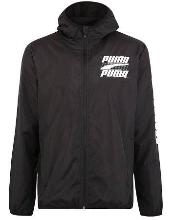 Puma Sport-Jacke 'Rebel Windbreaker' in schwarz für 23,72€ inkl. Versand