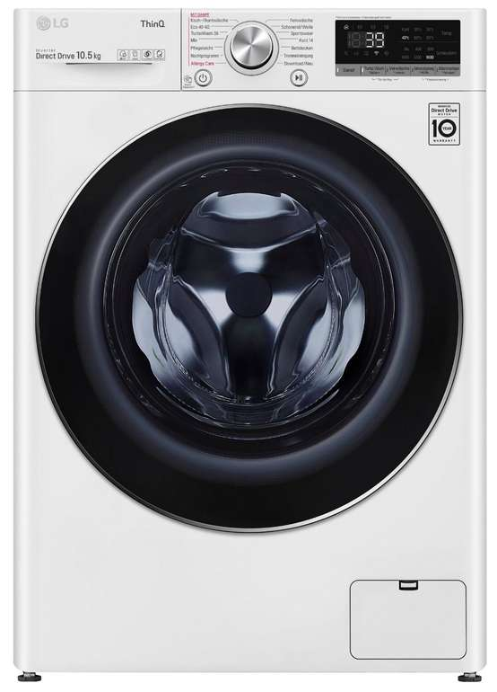 LG F6W105A Waschmaschine (A+++, 10,5kg, 1600 U/min) für 548,90€ inkl. Versand (statt 836€)