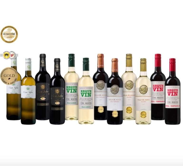 Weinpaket Spanischer Sommer mit 12 Flaschen Wein (6 Sorten) für 54,99€ inkl. Versand