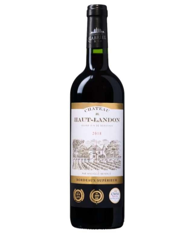 6 Flaschen Château Haut-Landon AOC Bordeaux Supérieur (2018) für 41,84€ inkl. Versand (statt 48€)