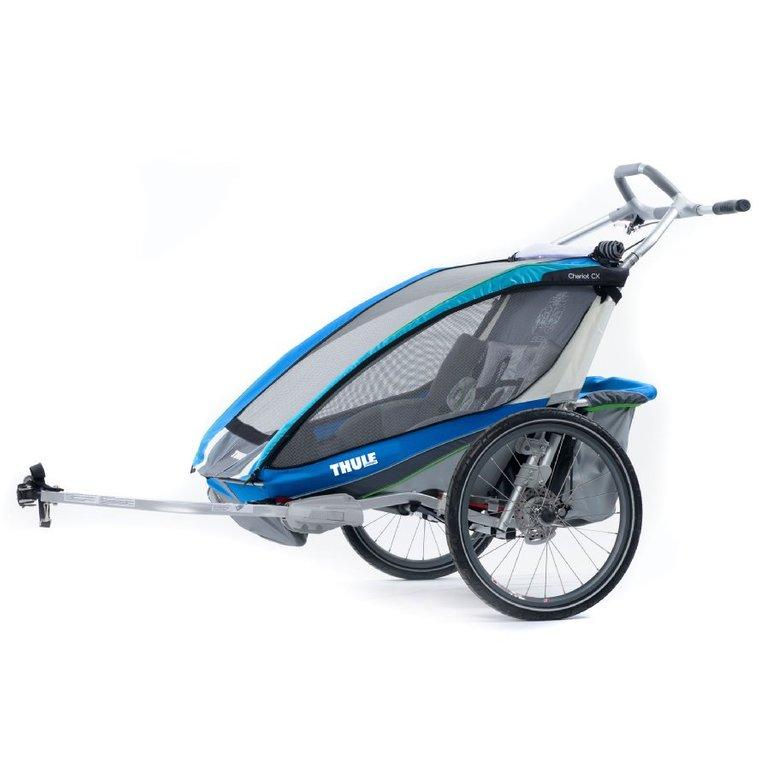 Thule Kinderfahrradanhänger Chariot CX2 Blue für 597,99€ (statt 699€)