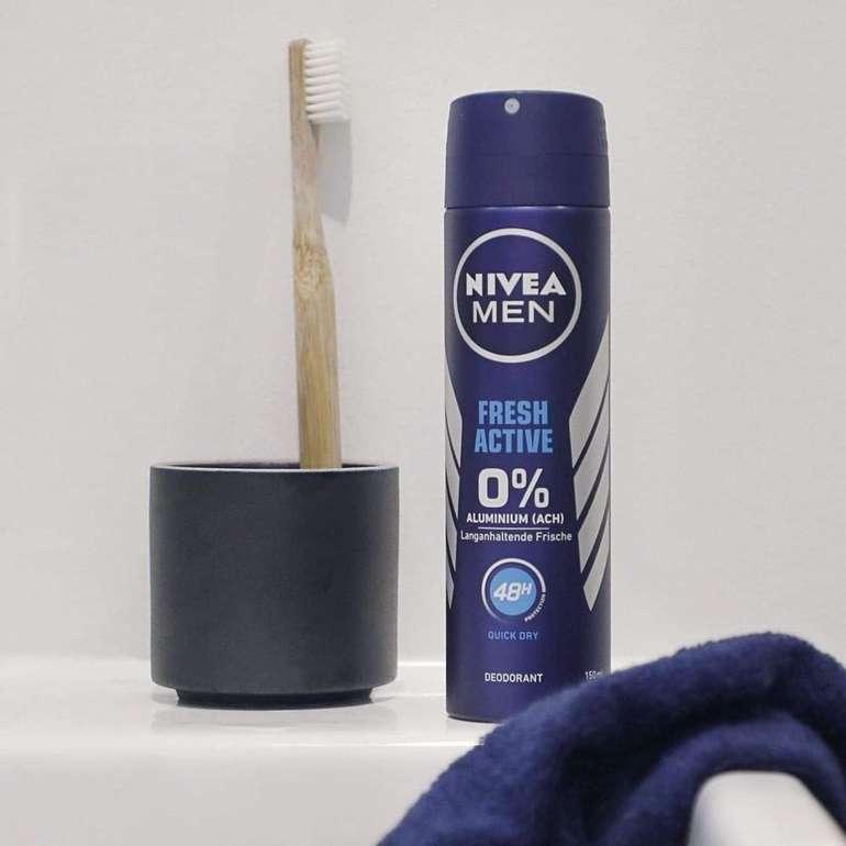 4er-Pack Nivea Men Fresh Active Deodorant Spray 150ml für 3,45€ inkl. Prime Versand (statt 6€)