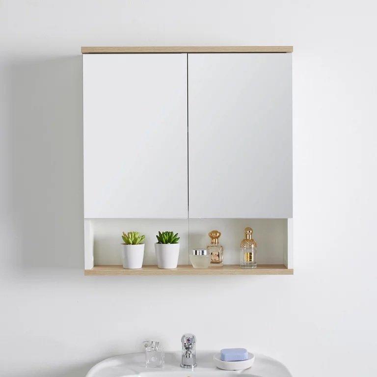 Spiegelschrank Yasmin in Weiß für 70,85€ inkl. Versand (statt 90€)