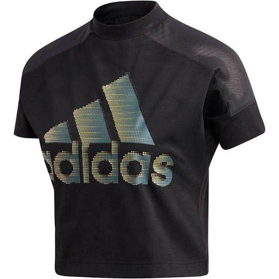 """Adidas Performance Damen T-Shirt """"ID Glam"""" in Gold / Schwarz für 11,66€ (statt 23€)"""