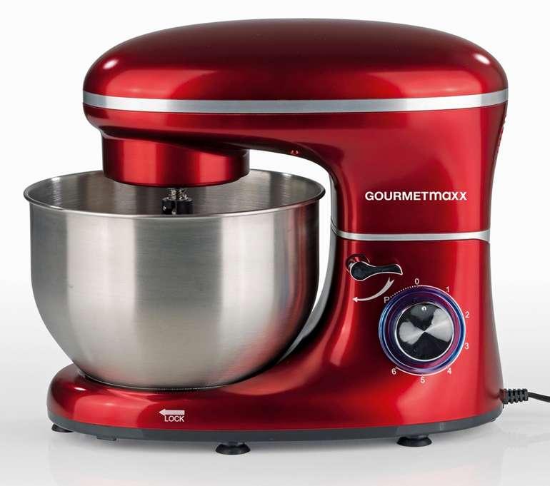 GOURMETmaxx Küchenmaschine (1500W) mit 6 Geschwindigkeitsstufen in rot für 84,99€ inkl. Versand (statt 100€)