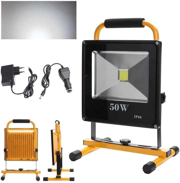 Verschiedene Hengda kaltweiße LED Akku Strahler reduziert, z.B. 50W für 30,92€