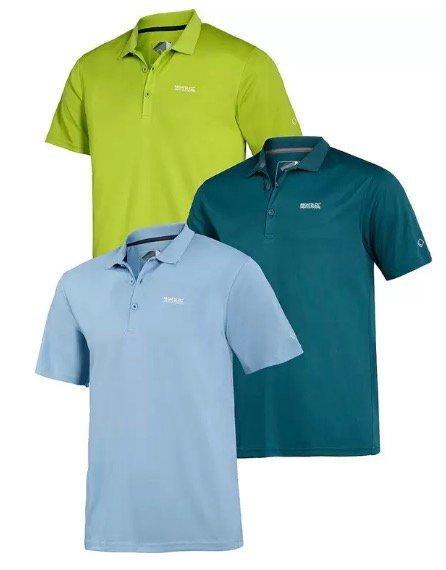 3er Pack Regatta Herren Polo-Shirts (versch. Farben) für 36,49€ (statt 50€)