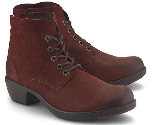 Fly London Schnür-Boots Mesu in Bordeaux-Rot für 40,16€ inkl. Versand (statt 95€)