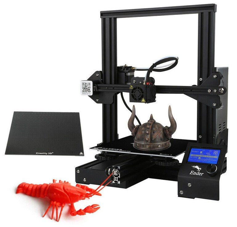Creality 3D Ender 3X - 3D Drucker (Glasdruckbett, MK-10-Extruder) für 177,09€