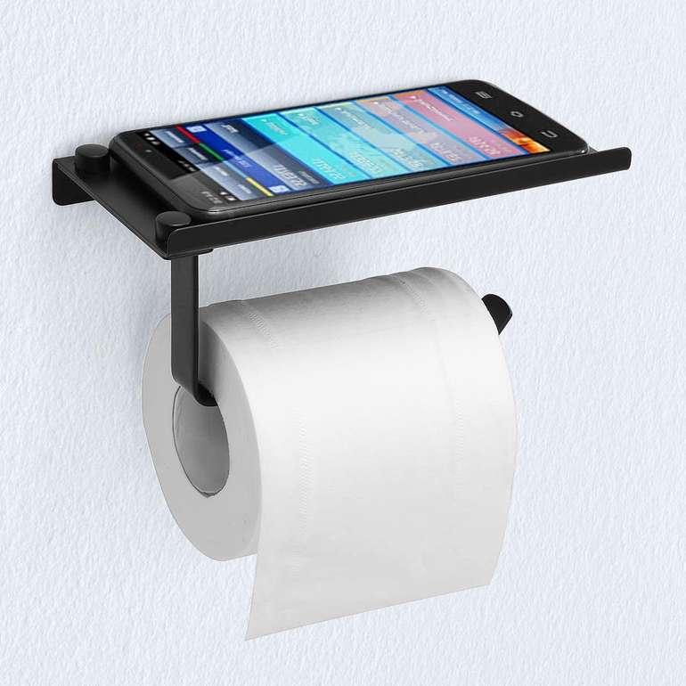 Mohoo Toilettenpapierhalter mit Ablage für 6,30€ inkl. Prime Versand (statt 11€)
