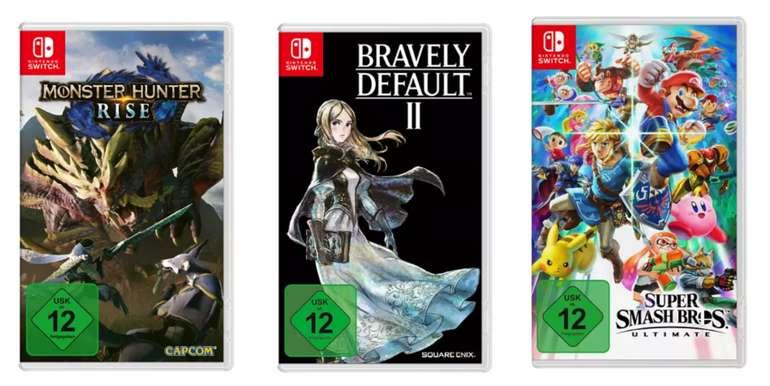 """""""3 für 2""""-Aktion Nintendo Switch-Spiele: z.B. Super Smash Bros. Ultimate + Monster Hunter: Rise + Bravely Default II"""