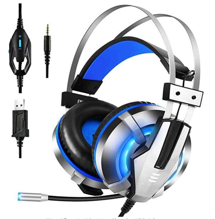 Eksa Gaming Headset mit LED-Licht für nur 7,19€ inkl. Prime Versand (statt 24€)