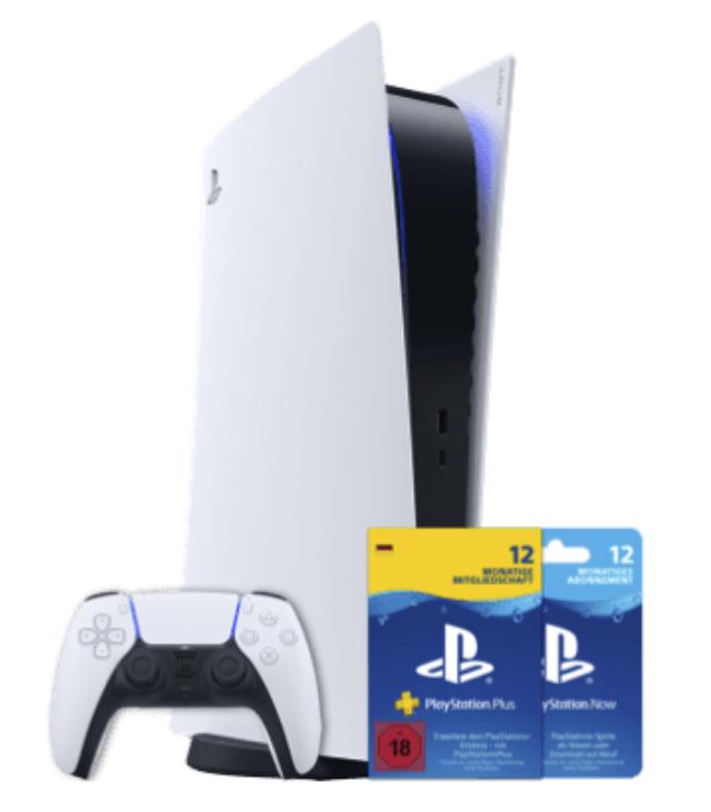 Sony PlayStation®5-Digital Edition mit PS Now und PS Plus + O2 Free M mit 20 GB für 44,99€mtl.