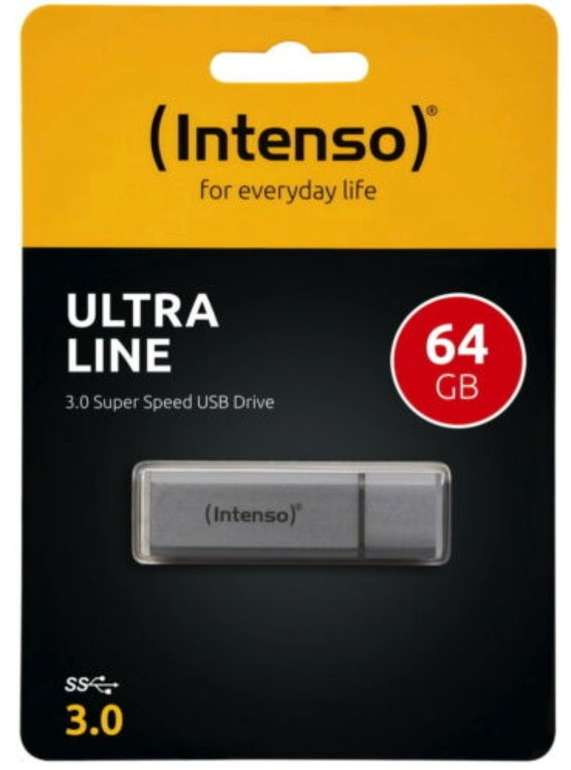 Intenso Ultra Line - 64GB USB Speicherstick (USB 3.0, silber) für 7,77€ inkl. Versand (statt 11€)