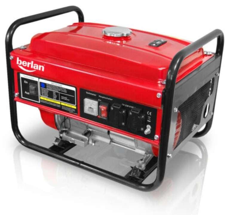 "Berlan Stromerzeuger ""BSTE 3000"" (2800 Watt, 6.5 PS, 2x 230V, 15 L Tank, Schutzstecker) für 149,95€"