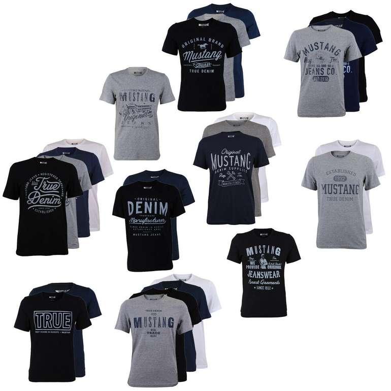 4er Pack Mustang Herren T-Shirts mit Frontprint für 43,95€ inkl. Versand (statt 52€)