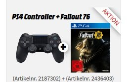 Playstation 4 Dualshock Controller + Fallout 76 für 55€ (statt 79€)