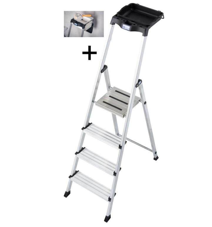Krause Stufen-Stehleiter Secury mit MultiGrip-System und 8 L System-Eimer für 54,99€