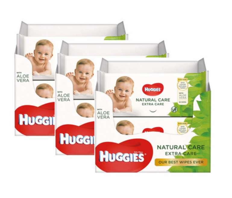 3x Huggies Babytuch-Packung Natural Care Extra Care (8x 56) für 25,90€ inkl. Versand (statt 45€)