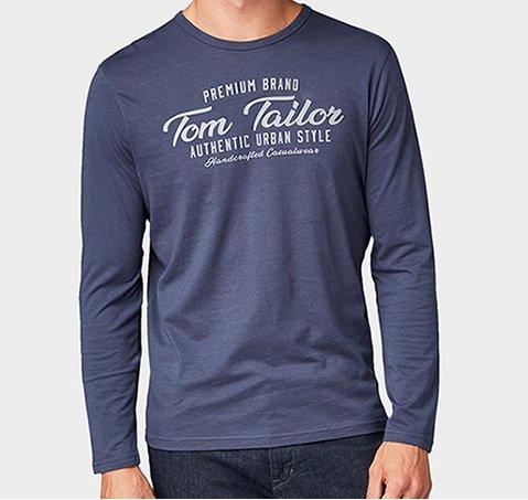 Bis zu 50% auf reduzierte Styles bei Tom Tailor, z.B. Herren Sweatshirt für 13€