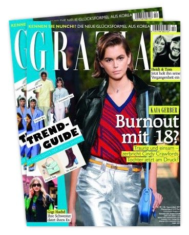 """Jahresabo """"Grazia"""" mit 50 Ausgaben für 156€ + 150€ Bestchoice-Gutschein"""