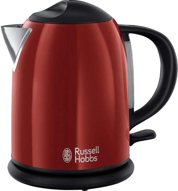Russell Hobbs 20191-70 Colours Flame Red Retro Wasserkocher (1,0 Liter, Schnellkochfunktion) für 23,99€