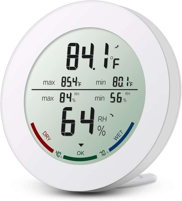 ORIA Digitales Thermometer/ Hygrometer (Temperatur, Luftfeuchtigkeit) für 6,49€ inkl. Prime Versand (statt 10€)