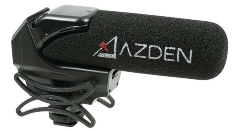 Azden SMX-15 Powered Shotgun Videomikrofon (Low-Cut-Filter, AutoPower-Modus, Verzerrungsresistent) für 155,90€