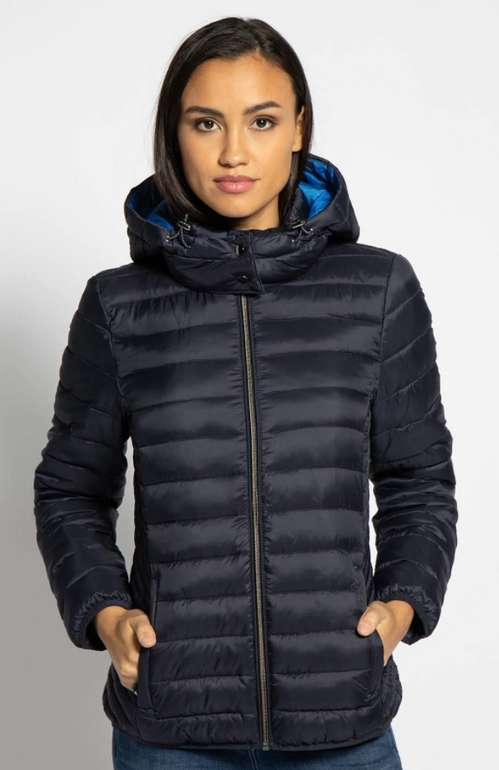 Esprit Damen Jacke mit Kapuze in navy für 47,18€ inkl. Versand (statt 66€)